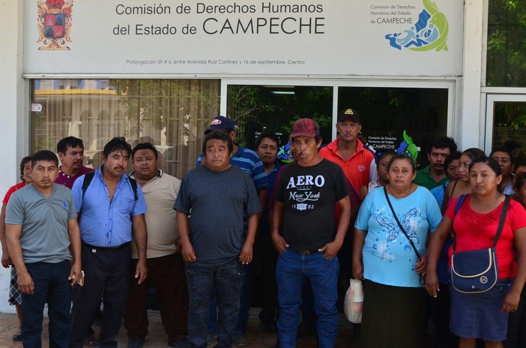 gente de xbacab pone demanda en derechos humanos