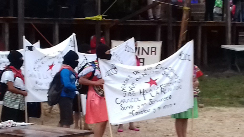 Hacen su aparicion las demandas zapatistas durante las obras de teatro