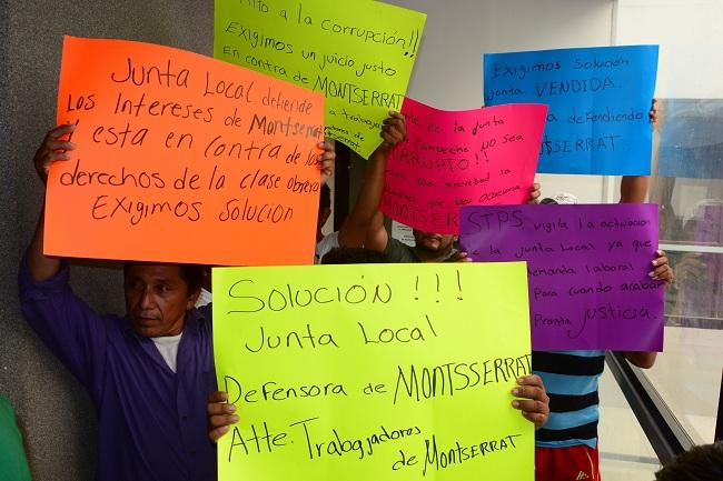 Protestan contra JLCA por no agilizar demanda (Campeche)