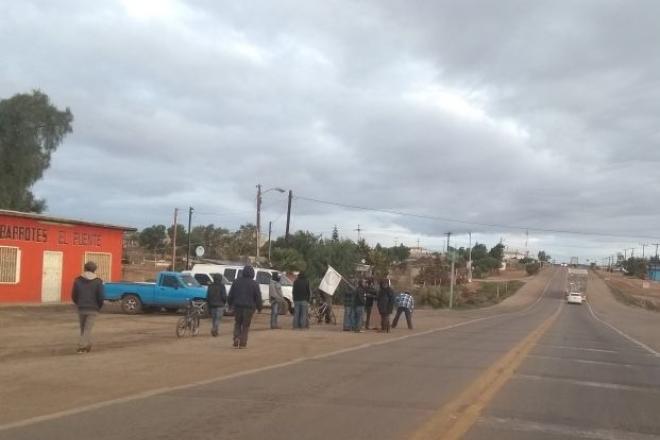 Se manifiestan jornaleros de San Quintín a tres años de su levantamiento (Baja California)