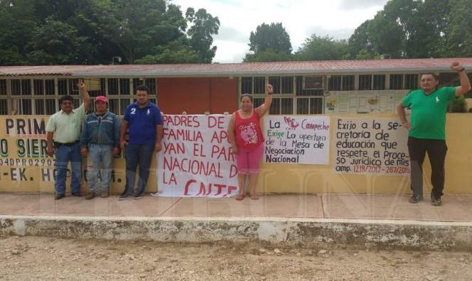 Apoyan paro de CNTE (Campeche)