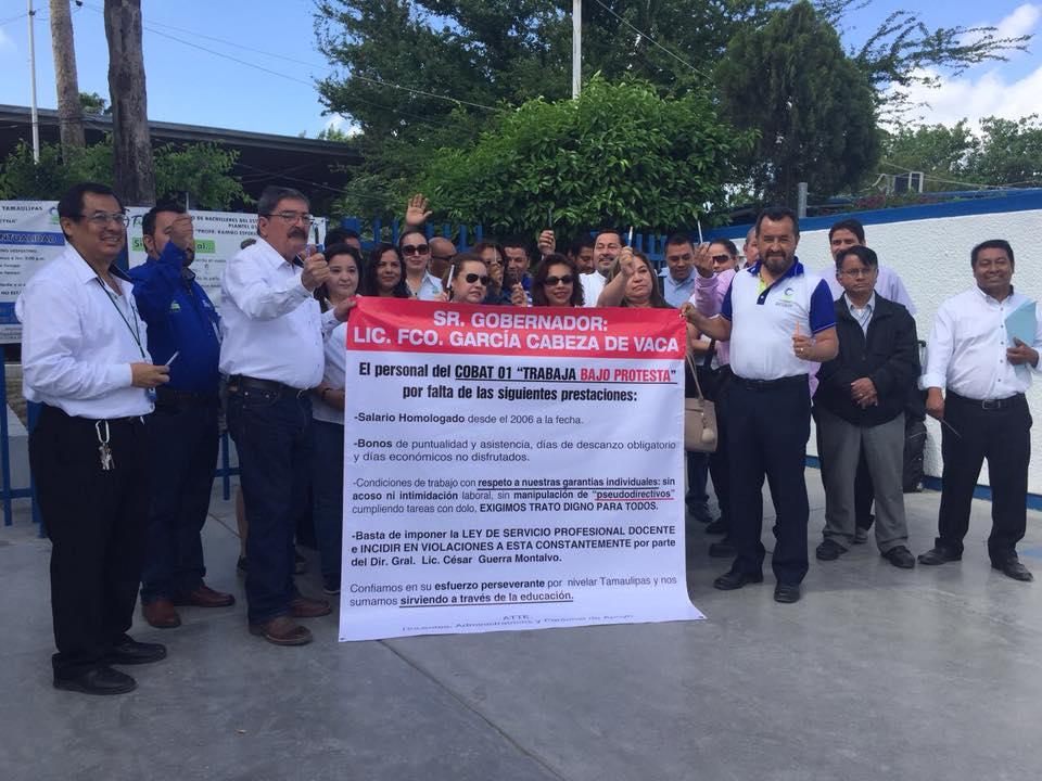 'Basta de denigrar a maestros' (Tamaulipas)