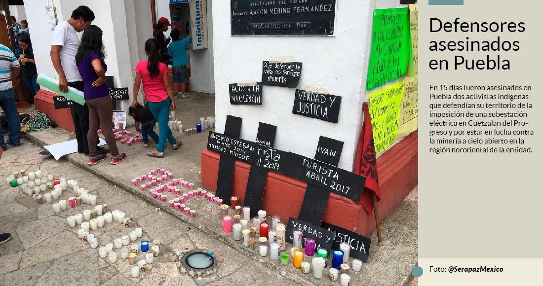El homicidio de dos opositores de megaproyectos indigna a ONGs y activistas: ¿Qué pasa en Puebla?
