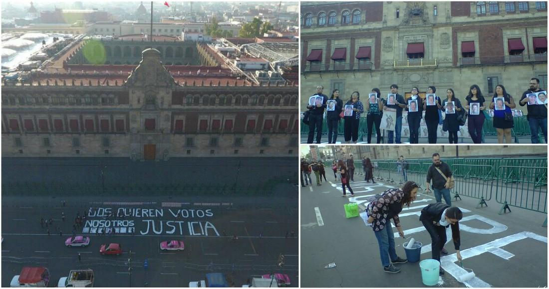 Periodistas protestan en Palacio Nacional; Unesco y UE exigen castigo para asesinos de reporteros
