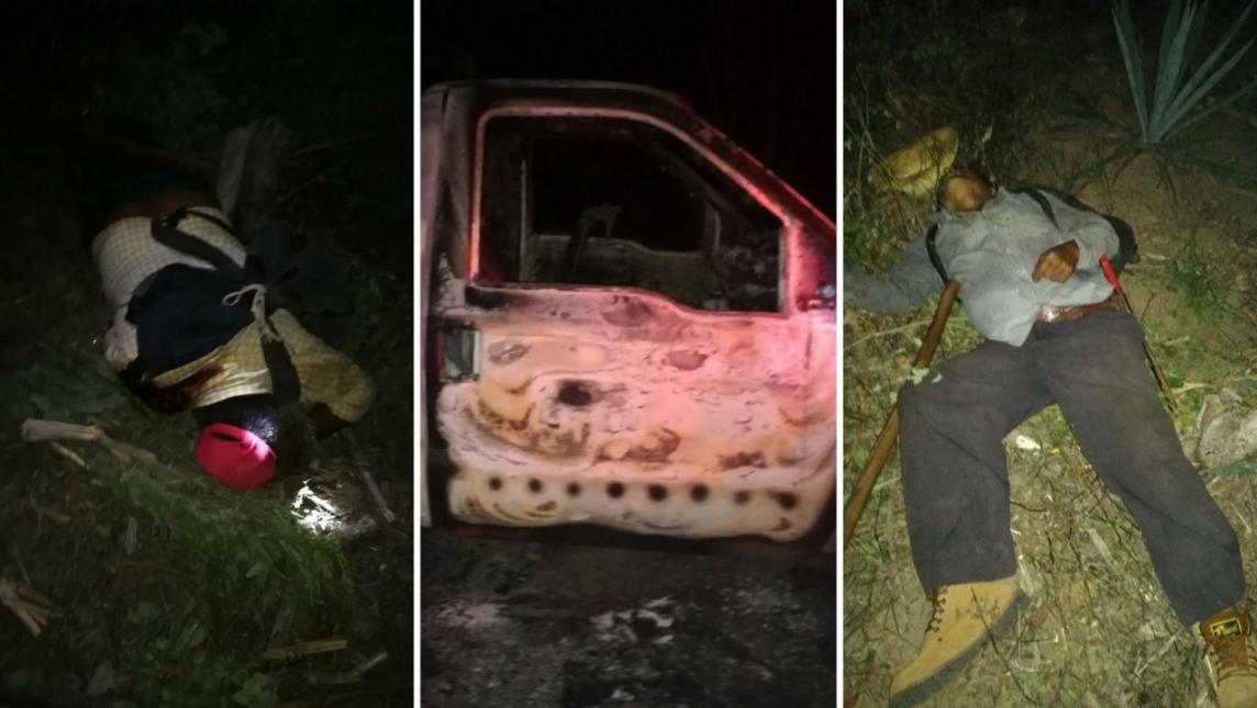 Confirma Fiscalía 13 personas fallecidas en masacre de la Sierra Sur de Oaxaca