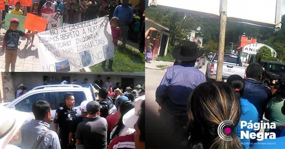 Vecinos de Honey corren a funcionarios de la Sener; rechazan gasoducto de TransCanada (Puebla)