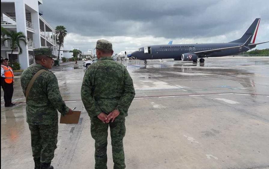 Arriban a Cancún, tropas que ocuparán la Ciudad Militar