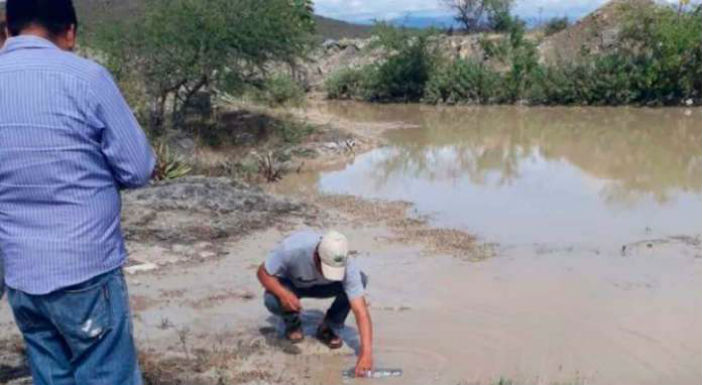 La Profepa confirma derrame causado por empresa de filial canadiense en río El Coyote, Oaxaca