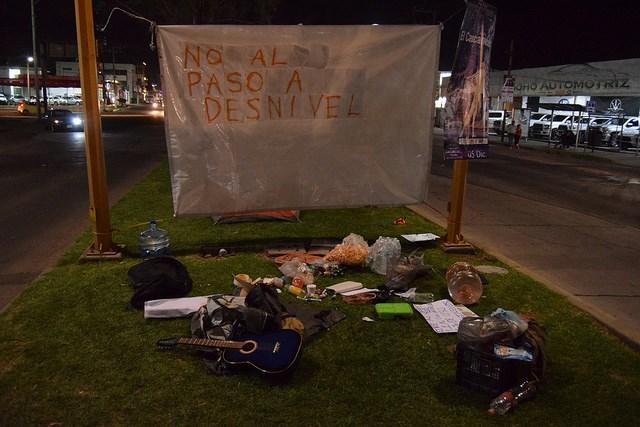 Luego de las detenciones, manifestantes en colinas del río reiteran su exigencia de parar la obra (Aguascalientes)
