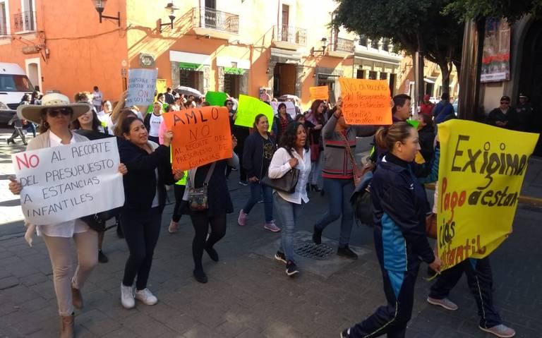 Se manifiestan Estancias Infantiles contra reducción de presupuesto en 2019 (Tlaxcala)