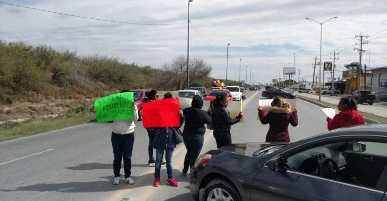 Manifestantes Exigen Justicia por Desaparecidos (Tamaulipas)