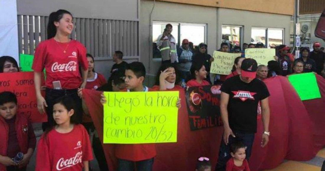 Al menos 700 trabajadores de Coca Cola en Matamoros, Tamaulipas, también se van a huelga