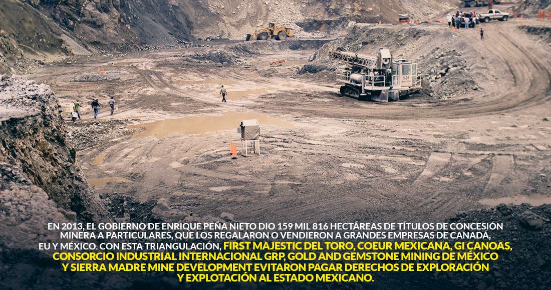 Mineras de Canadá, EU y México se quedaron miles de hectáreas con EPN y huyeron de pagar derechos
