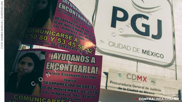 En la Ciudad de México, impunes los casos de mujeres desaparecidas