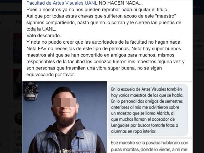 #MeToo en la Autónoma de Nuevo León: estudiantes denuncian acoso