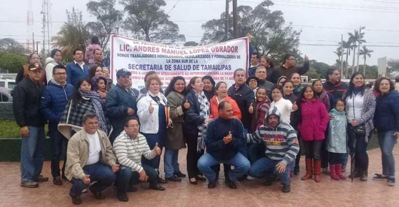 Piden basificación trabajadores de Salud de la zona sur de Tamaulipas