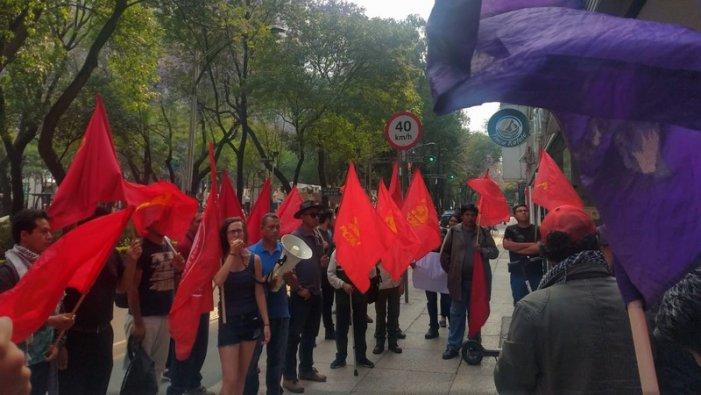 Protestan frente a sede de Tamaulipas por represión en Matamoros