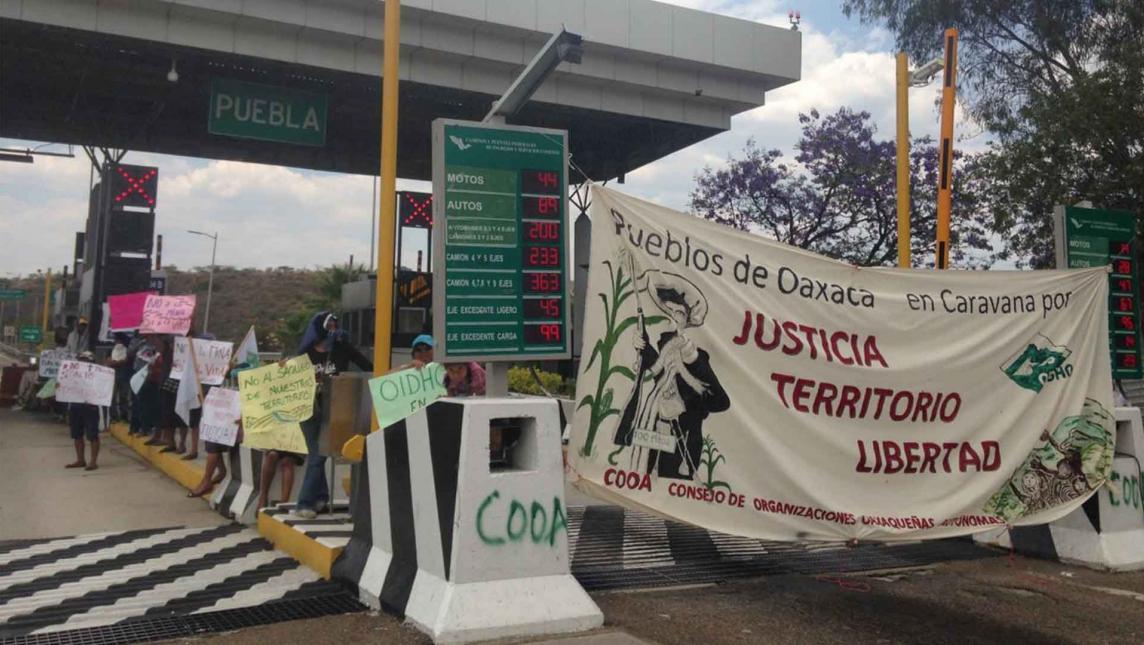 Levanta plantón el COOA y se va a la CdMx (Oaxaca)