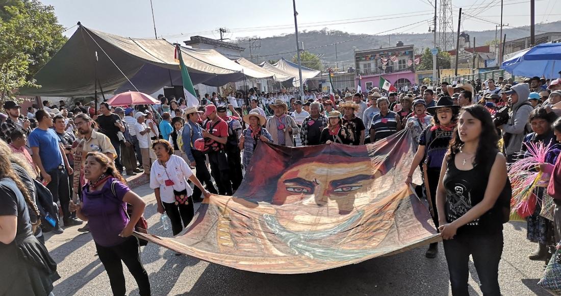 """Grupos campesinos protestan en la tierra de Emiliano Zapata por proyectos de """"despojo"""" de AMLO (Morelos)"""