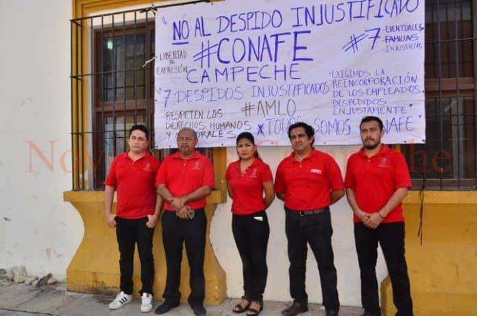 Dejan sin empleo a siete trabajadores del Conafe (Campeche)