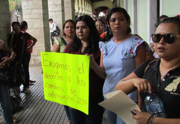 Maestros protestan porque no los incluyen en cambios geográficos (Yucatán)