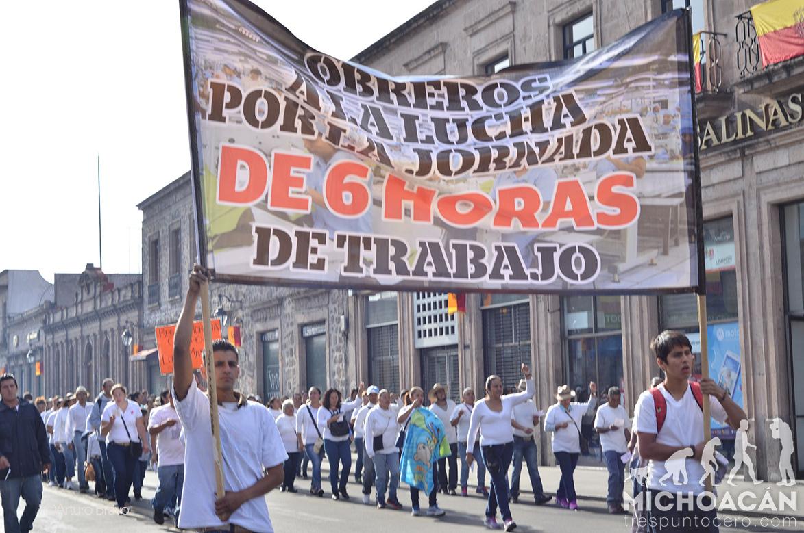 Trabajadores en Michoacán, mal pagados y sin seguridad social