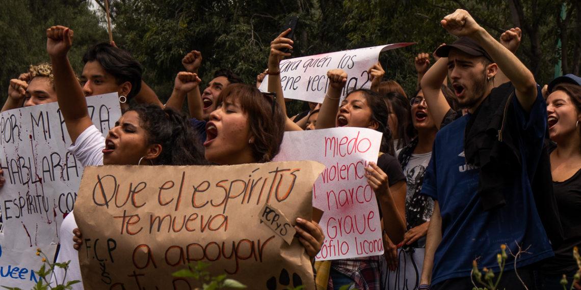 Escuelas de la UNAM se movilizan por feminicidio de Aideé Mendoza (Ciudad de México)