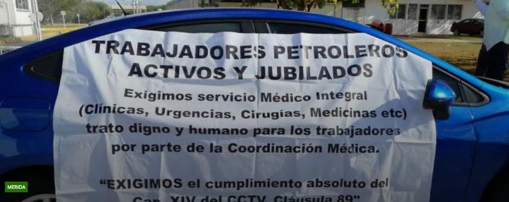 Nuevo plantón en planta de Pemex de la Mérida-Umán; es indefinido, dicen