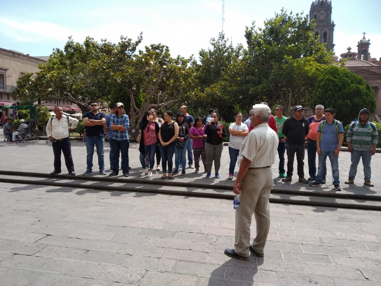 Trabajadores del Parque Tangamanga reclaman salario (San Luis Potosí)