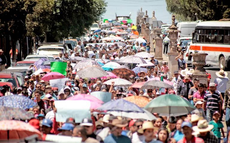 Y… marcharon contra Peñasquito (Zacatecas)