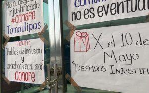 Despido de empleados causa sobrecarga de trabajo en Conafe de Tamaulipas