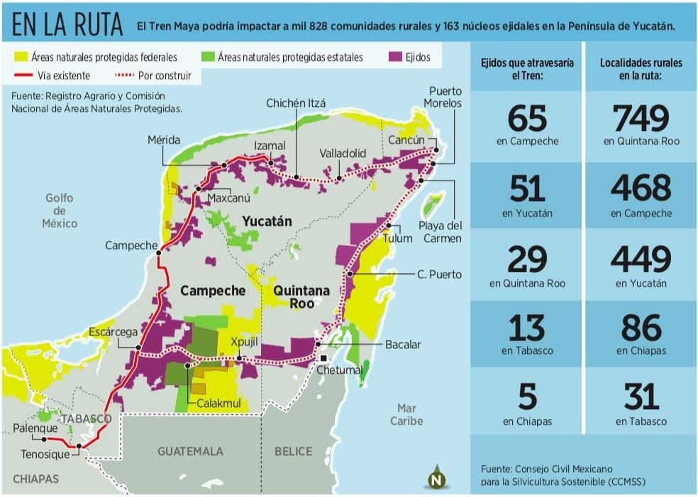 La ruta crítica del Tren Maya: Advierten que proyecto presidencial, con perfil neoliberal, impactará en comunidades rurales y núcleos ejidales de la Península de Yucatán