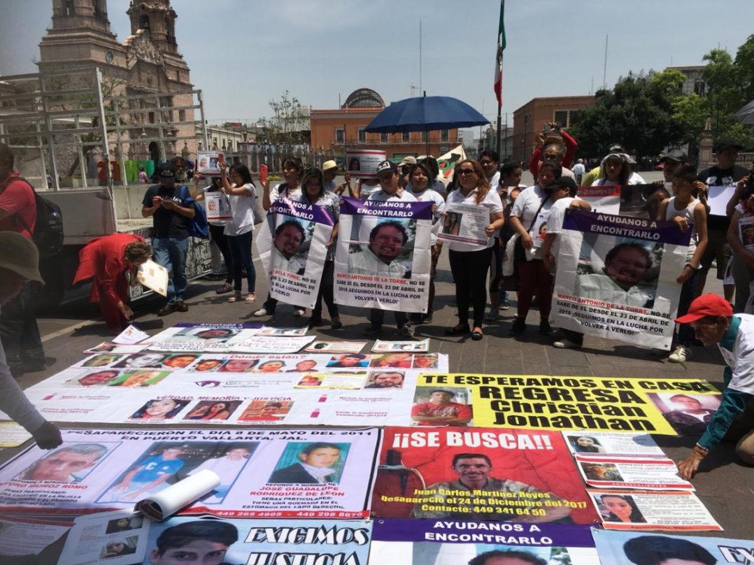 Familias de desaparecidos marchan en Aguascalientes para exigir avances en investigaciones