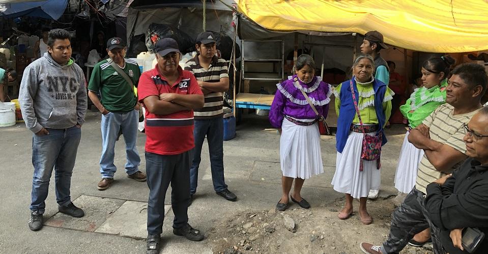 Campamento otomí en colonia Juárez teme desalojo; vecinos acusan inacción de autoridades (Ciudad de México)