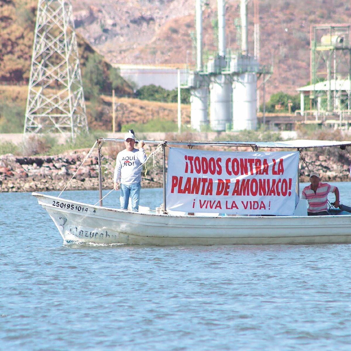 """""""¡Aquí no, AMLO!"""": indígenas van contra planta de amoniaco"""" (Sinaloa)"""