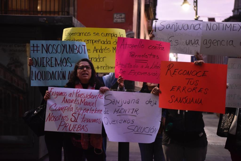 """En Notimex, despidos """"ilegales"""" y """"violentos"""""""