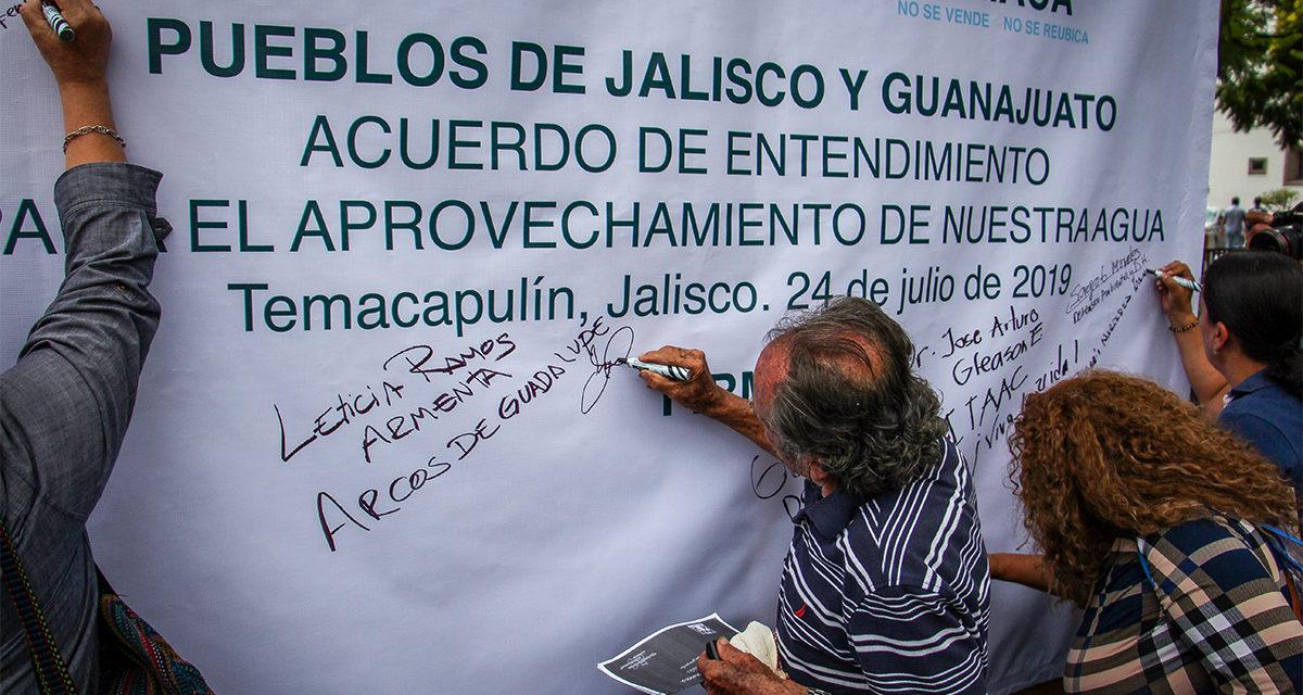 Por opacidad y sigilo en la realización de obras hídricas, pueblos de Jalisco firman acuerdo para aprovechar su agua (Jalisco)