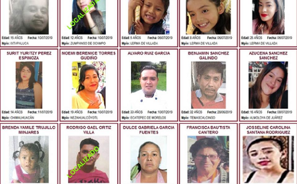 En 2019, desaparecieron 3,100 personas en Edomex