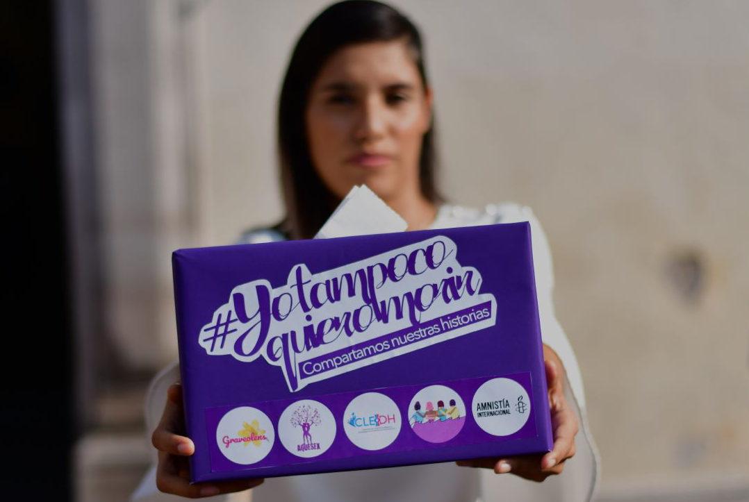 Tras asesinato de Nancy, mujeres lanzan la campaña #YoTampocoQuieroMorir en Querétaro