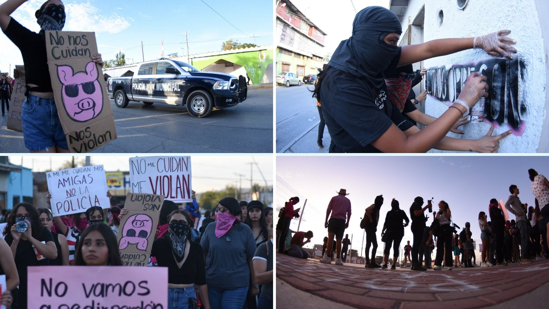 Galería: Glitter Rosa, la marcha feminista en Ciudad Juárez (Chihuahua)