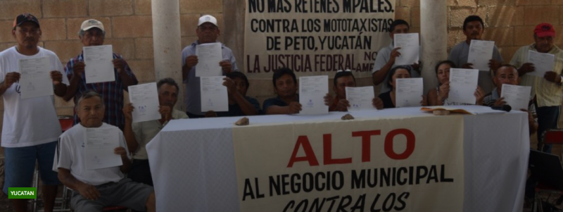 17 motataxistas de Peto solicitan amparo y protección de la justicia (Yucatán)