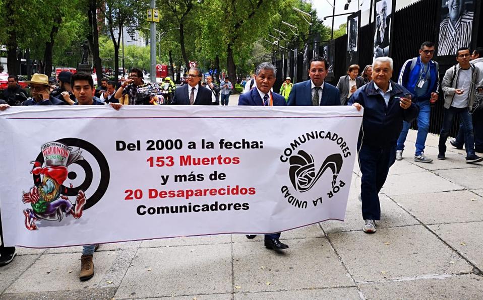 Con marcha en CdMx, exigen un alto al asesinato de periodistas