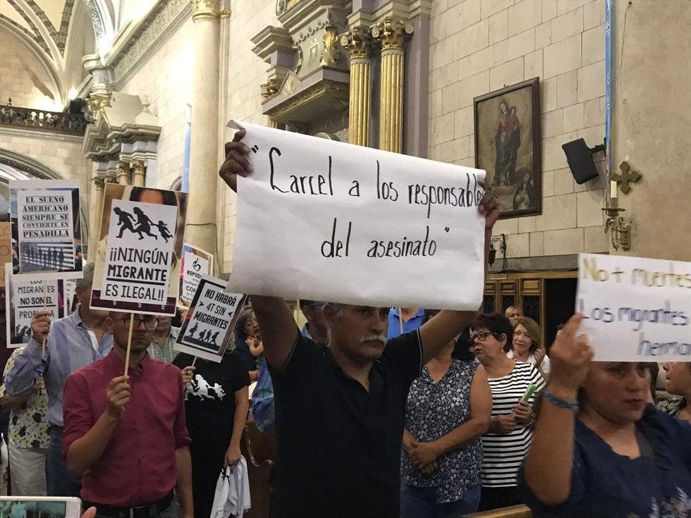 Demandan justicia en misa de migrantes (Coahuila)