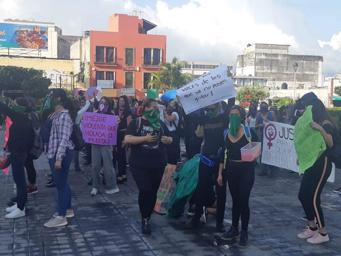 Así fue la manifestación de Colectivos Feministas en Nayarit