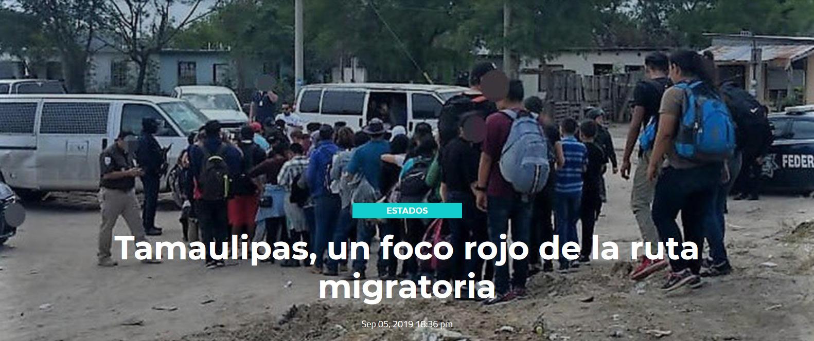 Tamaulipas, un foco rojo de la ruta migratoria
