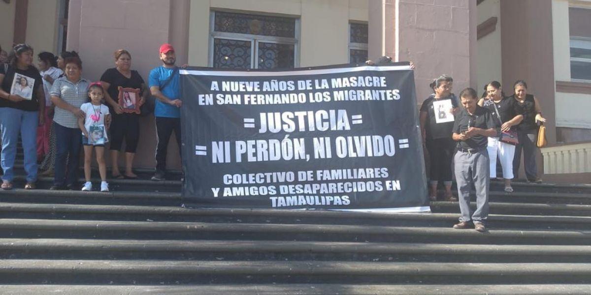 Colectivo de Familiares Desaparecidos protesta en contra de Guardia Nacional (Tamaulipas)