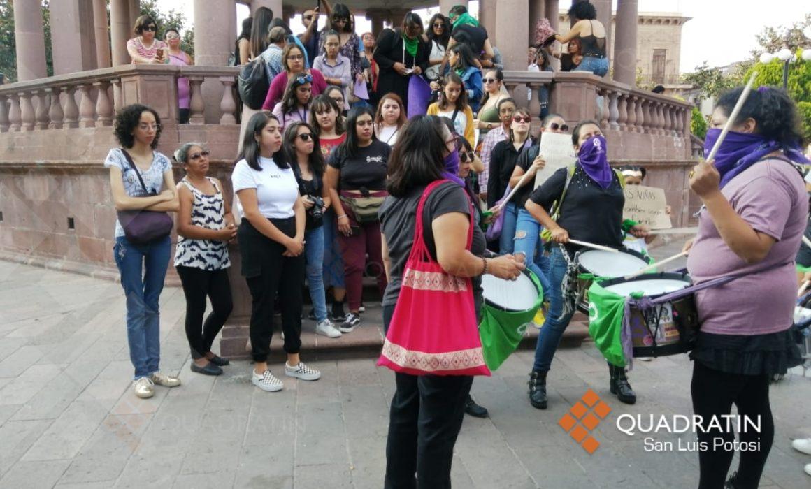 Feministas toman Centro Histórico con protestas (San Luis Potosí)