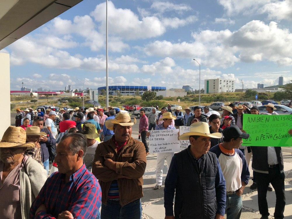 Ejidatarios piden frenar el decreto de Peña Colorada (Querétaro)