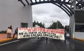Habitantes de pueblos originarios protestan contra aeropuerto en Santa Lucía (Estado de México)