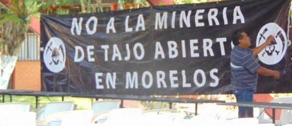 Comunidades en Morelos exigen no otorgar concesiones mineras a empresa canadiense